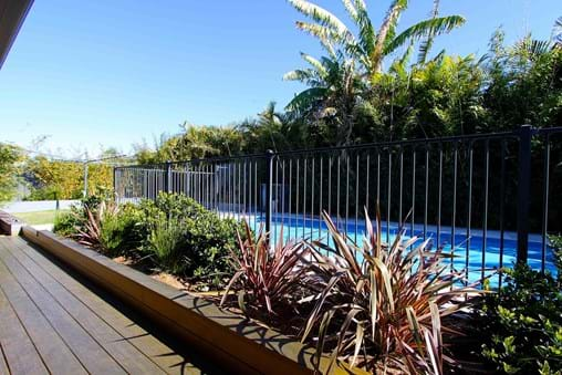 Landscape design for new contemporary backyard garden in Port Stephens NSW